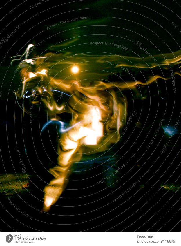 Sky Dark Playing Moon Mystic Flashlight Shift work Portrait format