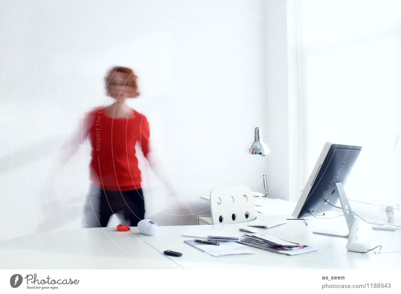 busy Office work Designer Workplace Computer Keyboard Computer mouse Screen Technology Telecommunications Information Technology Feminine Woman Adults Body 1