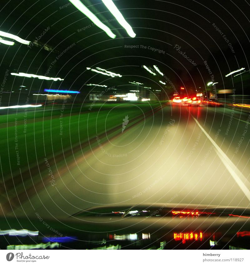 City Street Movement Car Lighting Transport Driving Traffic infrastructure Motoring Night Street sign Rear light City life