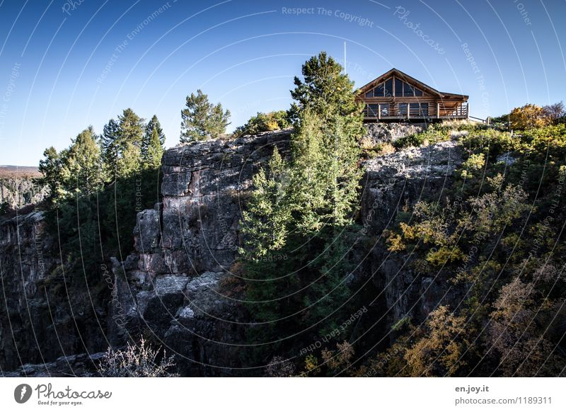 Sky Nature Vacation & Travel Summer Tree Landscape House (Residential Structure) Environment Autumn Rock Tourism Bushes Trip Beautiful weather Adventure USA