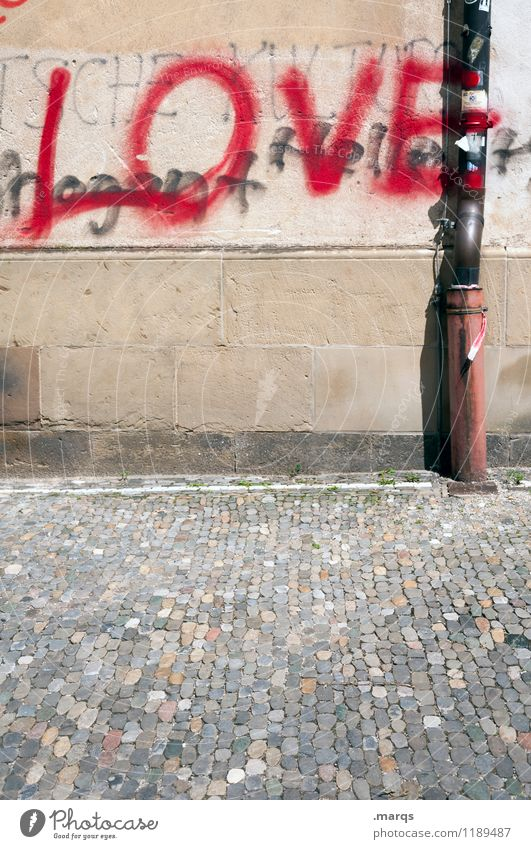 Wall (building) Graffiti Love Emotions Wall (barrier) Characters Simple Relationship Infatuation Rain gutter