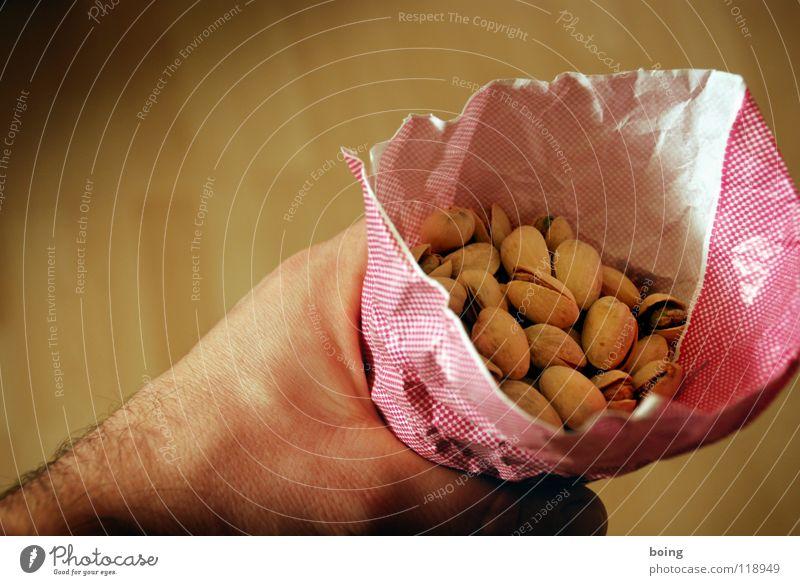 Paper bag holder Pistachio Stone fruit Nut Nibbles Finger food Collection Molt Shelling To break (something) Nutrition Kernels & Pits & Stones Fat Poison