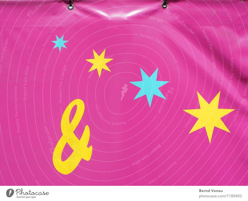 &**** Small Town Multicoloured Yellow Pink Turquoise Packing film Label Star (Symbol) Fairs & Carnivals Flashy Lettering Tighten Eyelet Joy Connection Dress up