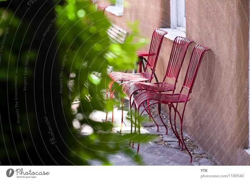 Relaxation Red Calm House (Residential Structure) Window Warmth Wall (building) Architecture Building Wall (barrier) Facade Protection Chair Manmade structures
