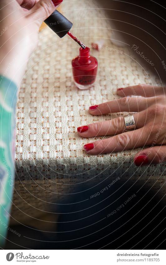 Paint off? Lifestyle Style Beautiful Personal hygiene Body Manicure Pedicure Cosmetics Make-up Nail polish Feminine Hand Fingers Esthetic Elegant Eroticism