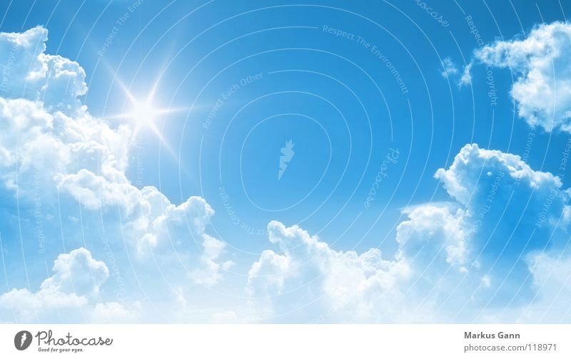 Sky White Sun Blue Summer Clouds Lamp Air Bright Background picture Weather Success Trust Longing Turquoise Beautiful weather