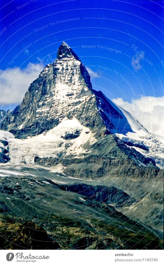 Switzerland (5) Matterhorn Eiger Mountain High mountain region Rock Massive Far-off places Fog Haze Vacation & Travel Travel photography Tourism Alps Sparse