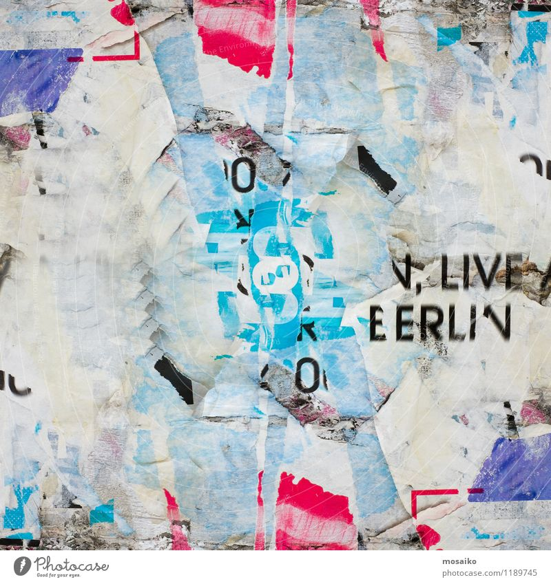 Abstract Grunge Background with Old Torn Posters City Colour White Black Street Graffiti Art City life Design Dirty Paper Retro Information Graphic Advice