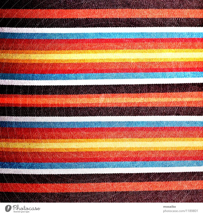 colorful stripes on linen textile Colour Summer Red Background picture Brown Line Fashion Design Soft Retro Stripe Cloth Hip & trendy Tradition Material Vintage