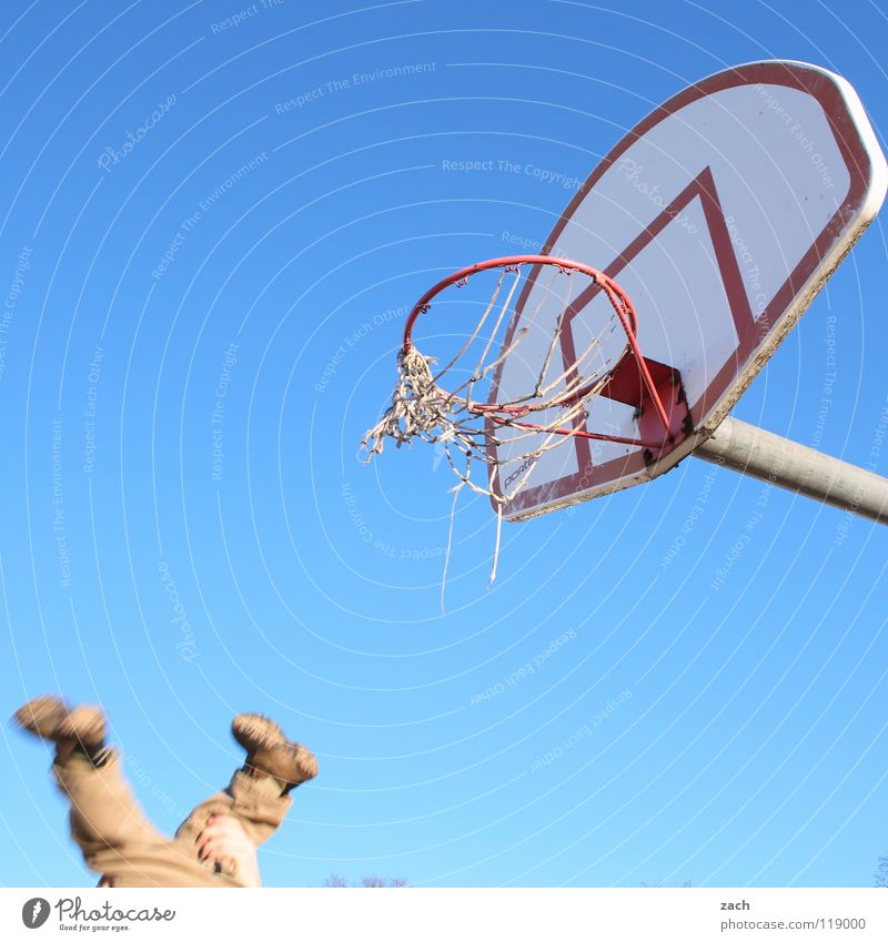 threesome Basketball basket Child Hand Playing Joy Sports Throw Flying Legs Speed