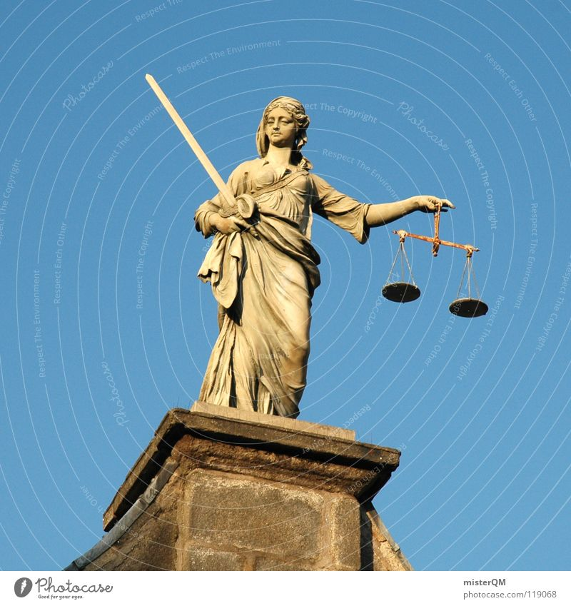 liberal justice Justice Fairness Scale Weigh Human being Bust Statue Sword Weapon Coat Costume Decision County court Judge Laws and Regulations Sky Roof Dublin