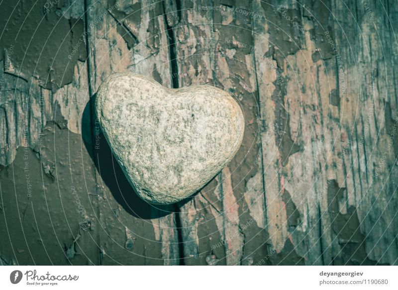 Stone heart shape on wood Spa Beach Decoration Valentine's Day Nature Landscape Sand Rock Heart Love Natural Gray White Romance shaped background romantic frame