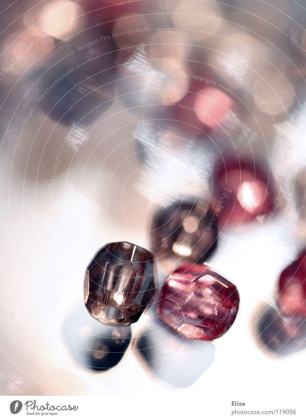 Beautiful Glass Pink Glittering Kitsch Jewellery Pearl Handicraft Precious stone Diamond Expensive Barbie Glass bead