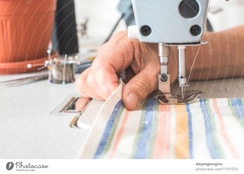 Sewing machine Fashion Metal Work and employment Design Clothing Industry Dress Cloth Factory Material Craft (trade) Make Tool Machinery Employees & Colleagues Seam