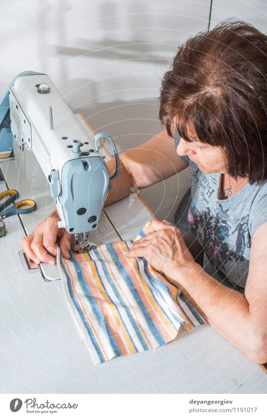 Women sew on sewing machine Human being Woman White Adults Fashion Work and employment Business Design Creativity Clothing Industry Cloth Profession Factory Material Craft (trade)