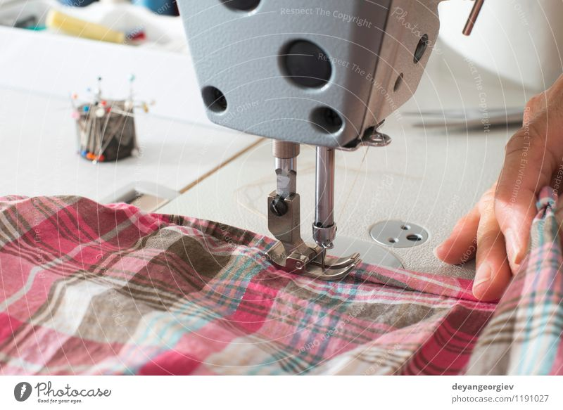 Sewing machine Fashion Metal Work and employment Design Clothing Industry Dress Factory Material Craft (trade) Make Tool Machinery Employees & Colleagues