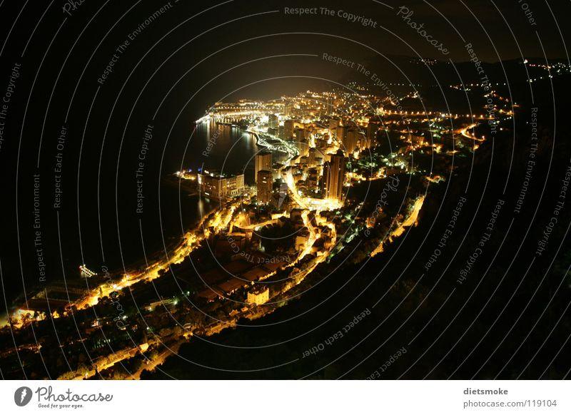 Ocean City Night France Casino Mediterranean sea Night shot Monaco Monarchy Cote d'Azur