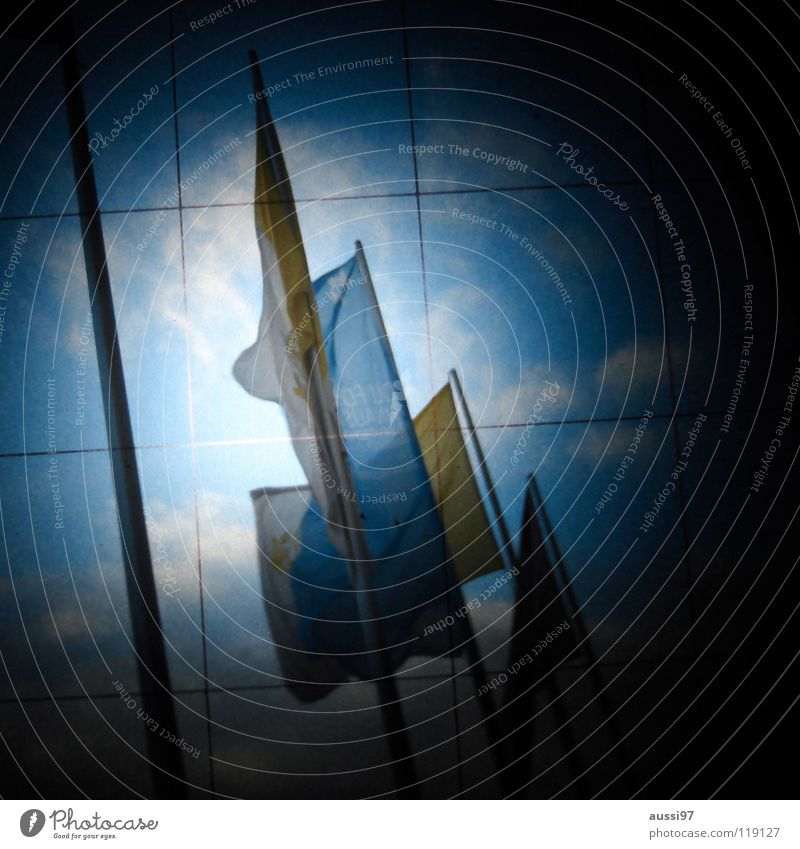 Dark Signs and labeling Flag Mysterious Grid Puzzle Unclear Viewfinder Hazy Photographic technology Lightshaft Flying the flag