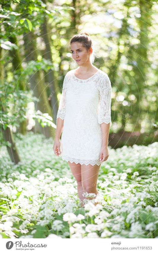 Human being Nature Youth (Young adults) Beautiful Green Summer White Young woman 18 - 30 years Forest Adults Environment Meadow Natural Feminine Bright