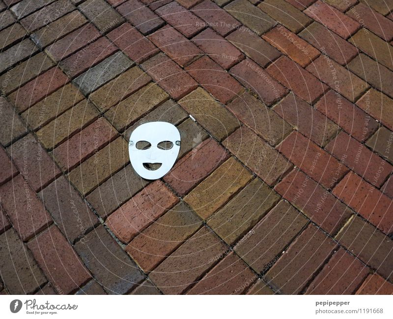 City White Loneliness Red Joy Eyes Street Lanes & trails Laughter Stone Lie Infancy Mouth Paper Sign Mask