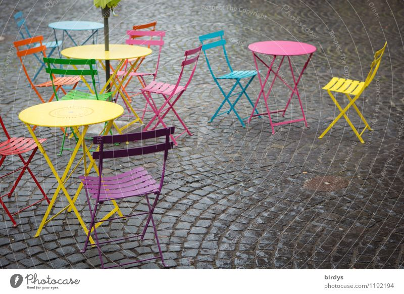 Beautiful Colour Red Yellow Style Exceptional Pink Leisure and hobbies Esthetic Table Joie de vivre (Vitality) Friendliness Violet Chair Gastronomy Turquoise