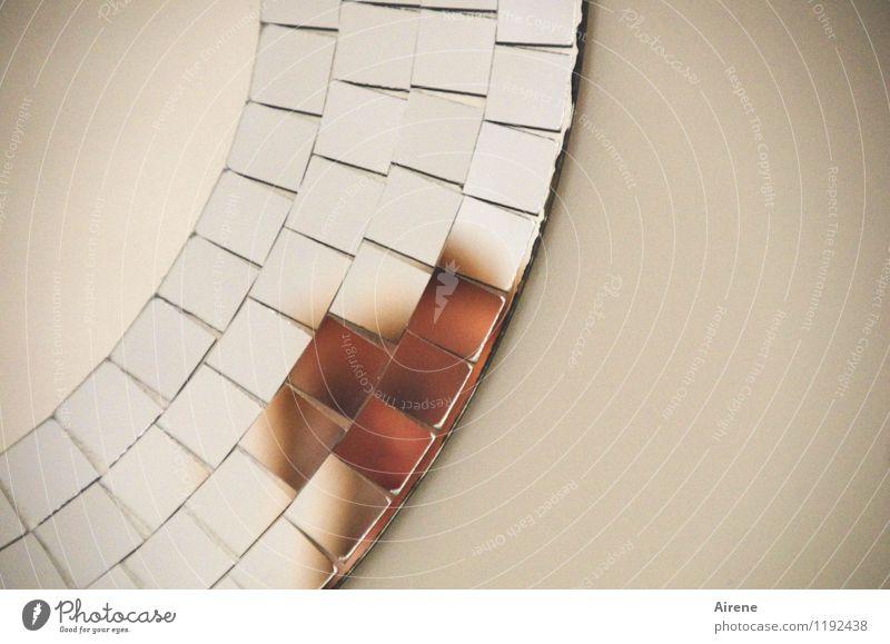 Do I look broken! Human being Feminine Woman Adults Face 1 Mirror Shard Mosaic Glass Circle Part Fragment Looking Broken Beautiful Irritation Blur Unclear