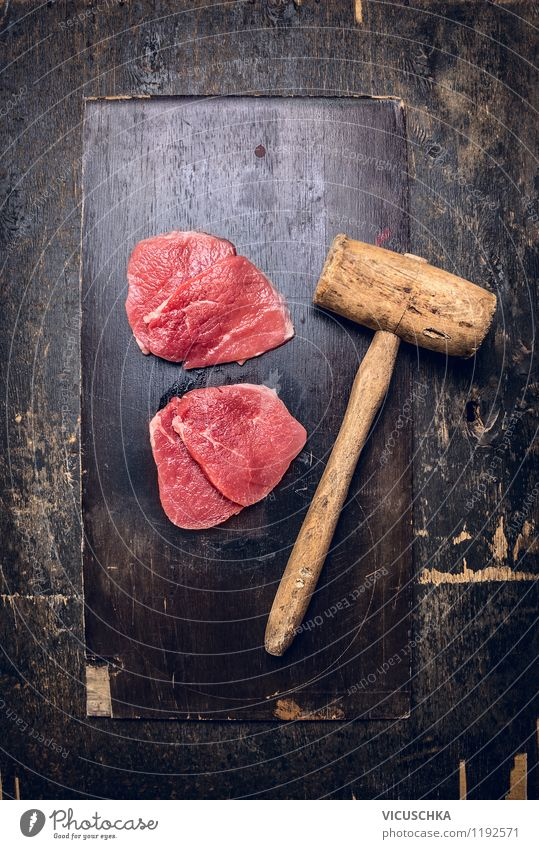Old Red Healthy Eating Dark Style Food photograph Design Table Nutrition Cooking & Baking Retro Kitchen Organic produce Meat