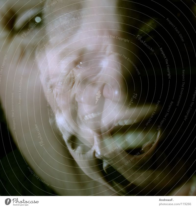 Child Man Fear Crazy Dangerous Threat Illness Anger Scream Stress Ghosts & Spectres  Panic Freak Double exposure Soul