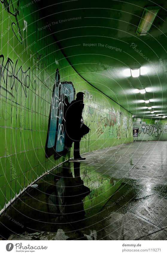 Man Water City Green Winter Loneliness Lamp Cold Lanes & trails Footwear Graffiti Future Floor covering Mirror Pants Tile