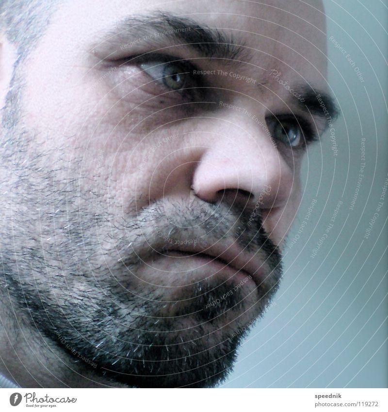 No title Think False Correct Man Healthy Desire Envy Contentment Skeptical Facial hair Masculine Eyebrow Self portrait Black Portrait photograph Pallid White
