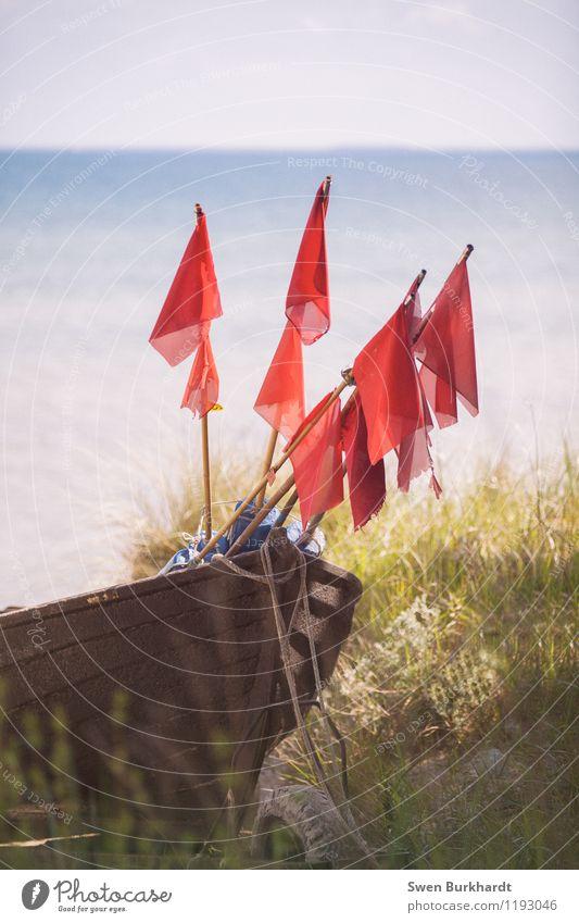 Hoist the flags Vacation & Travel Tourism Trip Adventure Far-off places Freedom Summer Sun Beach Ocean Island Environment Nature Landscape Coast Bay Baltic Sea