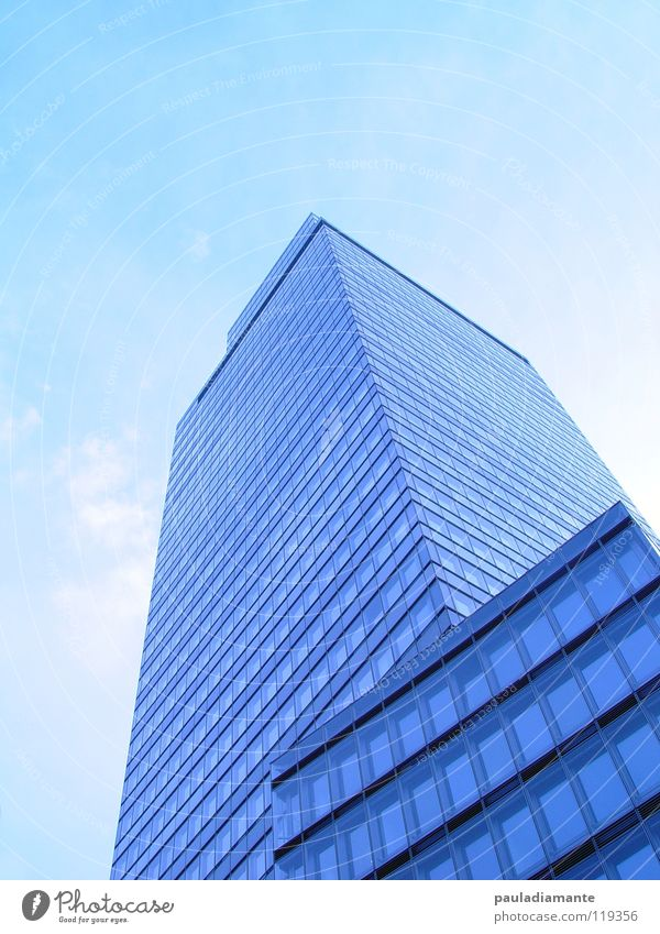 tower High-rise Facade Modern Skyline Industrial Photography Glass blue filters Architecture