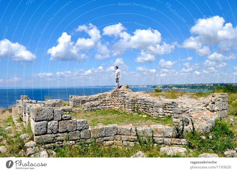 Ruin on the sea Sky Summer Water Landscape Calm Clouds Air Earth Peaceful