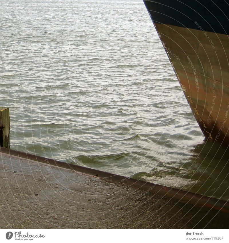 Ocean Autumn Gray Watercraft Industry Gloomy Harbour Jetty Navigation North Sea Mole Drop anchor Cargo-ship Draft Hull