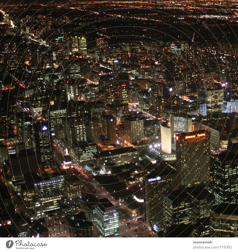 Toronto at night! Part 2 Canada Town Dark Night Light Street lighting House (Residential Structure) High-rise Office building Hotel City hall Floodlight