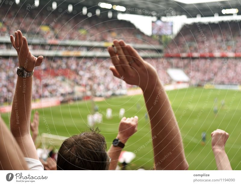 Human being Hand Joy Sports Happy Leisure and hobbies Success Arm Soccer Help Sports team Attachment Audience Sporting event Goal Sportsperson