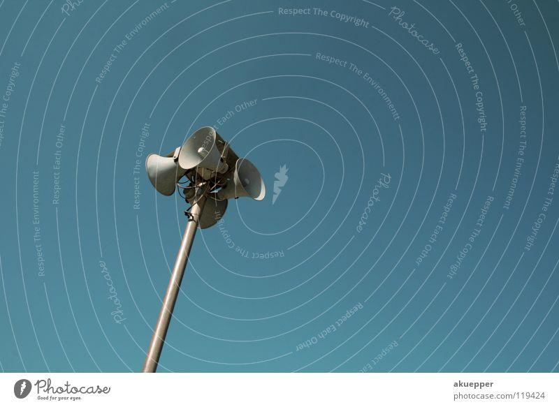 Sky Blue To talk Ear Communicate Listening Direction Loudspeaker Loud Customer Megaphone Alarm Voice Sense of hearing Whistle Vociferous