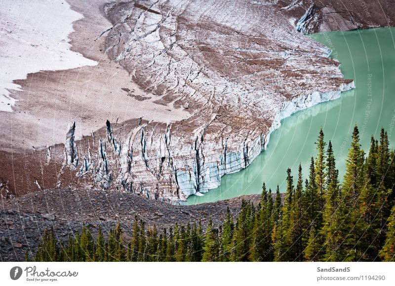 Mount Edith Cavell glacier Vacation & Travel Tourism Mountain Hiking Environment Nature Landscape Elements Water Earth Summer Climate Climate change Ice Frost