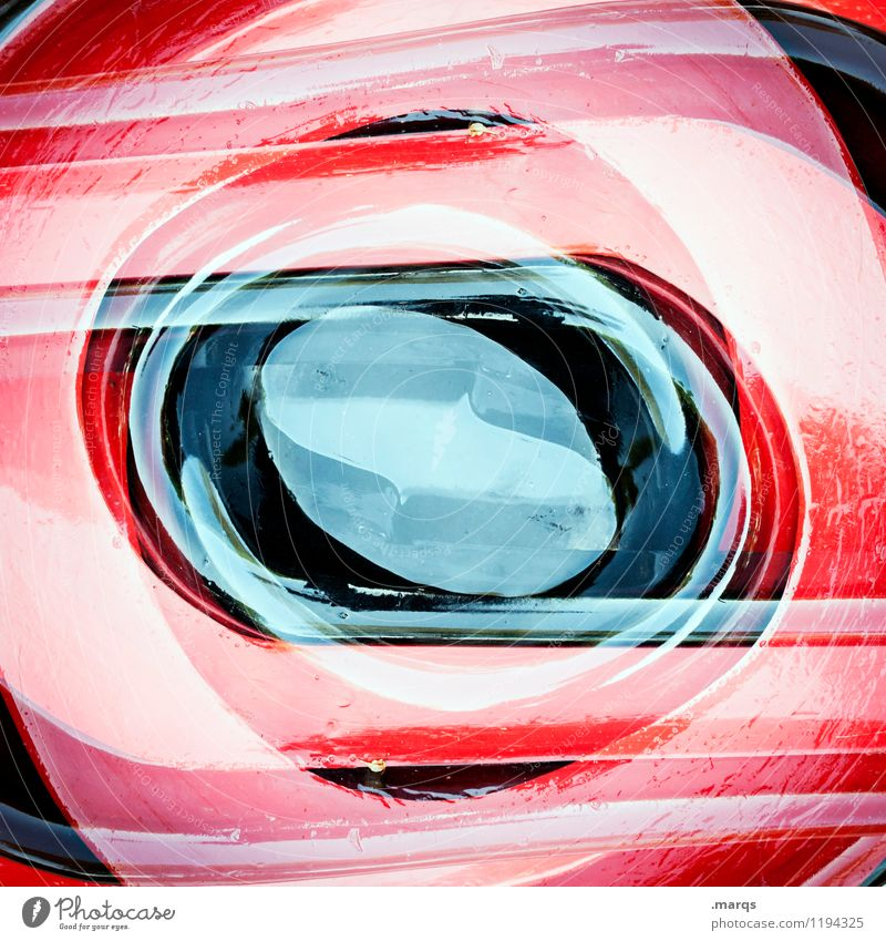 eye Elegant Style Design Plastic Structures and shapes Round Exceptional Cool (slang) Red Black Esthetic Colour Arrangement Perspective Surrealism Symmetry