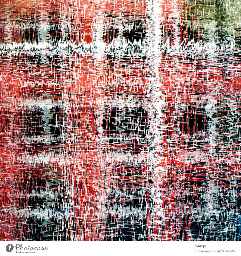Nature Water White Red Style Exceptional Line Crazy Perspective Uniqueness Fluid Irritation Double exposure
