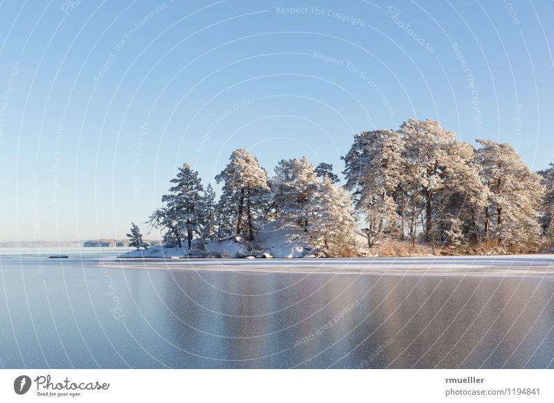 winter island Vacation & Travel Trip Far-off places Freedom Winter Snow Environment Nature Landscape Water Sky Beautiful weather Ice Frost Lakeside Island Blue