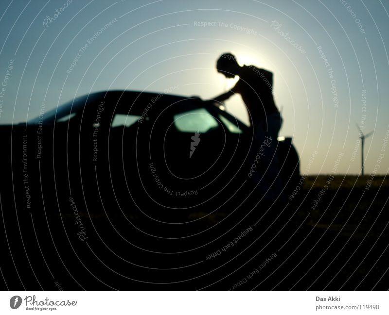 Man Beautiful Blue Summer Black Loneliness Dark Car Field Wind Guy Boredom Key Fellow Renewable energy Celestial bodies and the universe