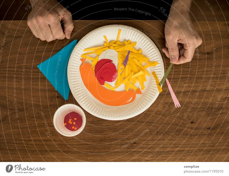 Fasting with fast food Food Meat Sausage Nutrition Eating Dinner Picnic Fast food Slow food Crockery Healthy Health care Illness Overweight Well-being Diet