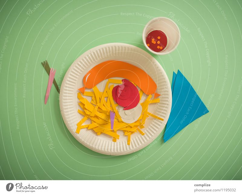 French fries red-white, sausage & cola Food Sausage Nutrition Eating Lunch Diet Fast food Beverage Lemonade Cola Plate Healthy Overweight Gastronomy Event