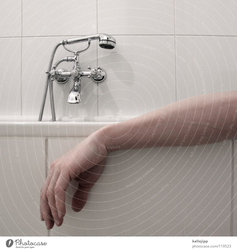 Human being Man Water White Hand Calm Relaxation Death Warmth Sadness Bright Germany Swimming & Bathing Room Going Arm