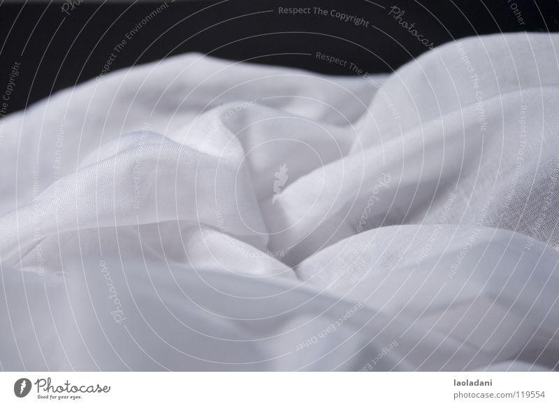 White Black Clouds Mountain Landscape Cloth Wrinkles Seasons Rag Textiles