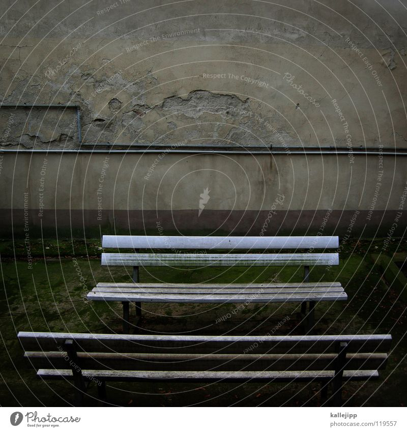 Old Calm Loneliness Life Relaxation Death Sadness Wall (barrier) Park Line Wait Break Bench Cable Leisure and hobbies Farm