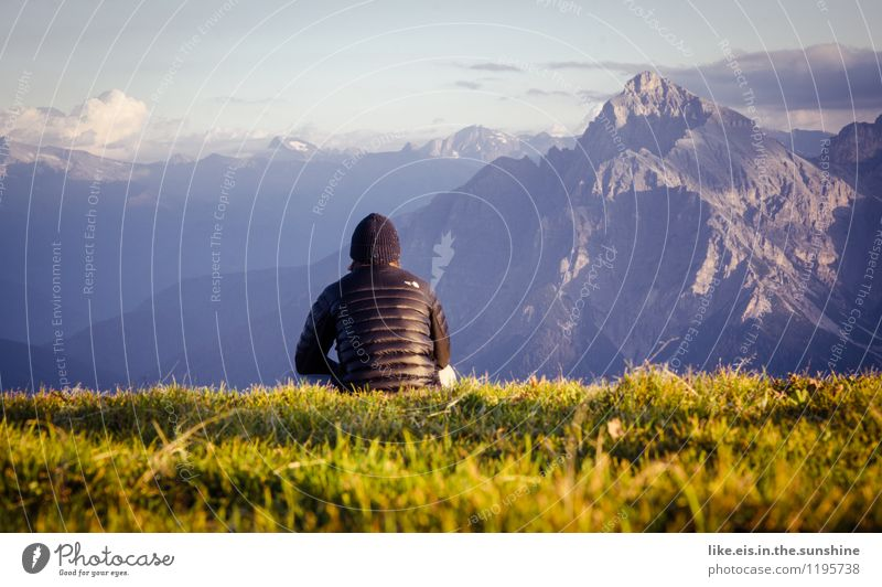 Hmmmmmmmmmm..... Life Harmonious Well-being Contentment Senses Relaxation Vacation & Travel Trip Far-off places Freedom Mountain Hiking Masculine Young man