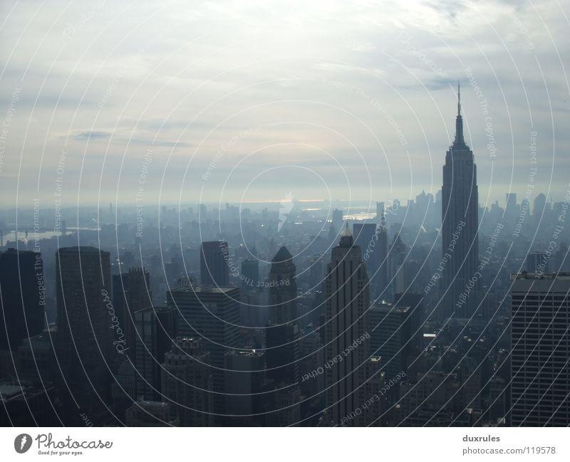 City Clouds High-rise USA Americas New York City Capital city Empire State building