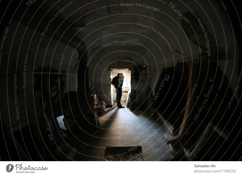 Hennes in the wormhole Flat (apartment) House (Residential Structure) Attic Heating by stove Stovepipe Man Adults 1 Human being Architecture Looking Stand